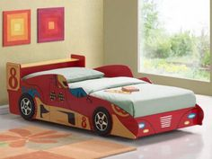 Race Car Bed Plan - includes full size pattern with complete ...