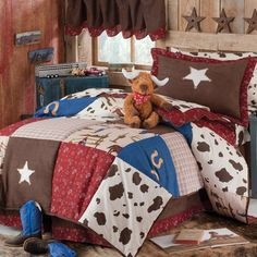 Cowboy Deluxe Bedding Set- hmmm, maybe for the little boys room???