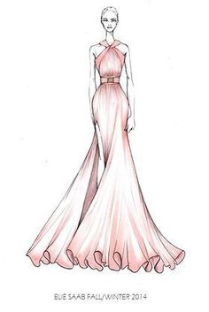 Find tips and tricks, amazing ideas for Elie saab. Discover and try out new things about Elie saab site Dress Design Drawing, Dress Design Sketches, Fashion Design Sketchbook, Fashion Design Drawings, Dress Drawing, Fashion Sketches, Illustration Tutorial, Illustration Mode, Fashion Drawing Dresses