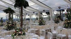 Otra boda espectacular by alquileresbsquare con nuestros manteles de diseño, mobiliario, toldo etc