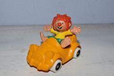 Vintage Künstlerpuppen - kleiner Vintage Pumuckl Figur,Hartplastik, Auto - ein Designerstück von VitaMonella bei DaWanda