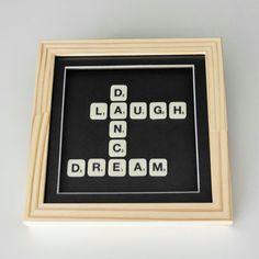 Cuadro Scrabble Laugh Dance Dream - Comprar en Kikely