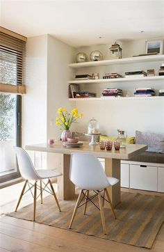 Best Kitchen Table Design Ideas for Your Amazing Kitchen Design Ideas para comedores pequeños tableAmazing Amazing may refer to: Kitchen Benches, Kitchen Nook, New Kitchen, Kitchen Decor, Dining Nook, Dining Room Design, Design Table, Best Kitchen Designs, Small Dining