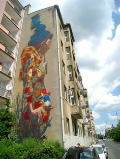 Sainer New Mural In Lodz, Poland