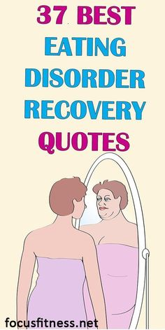 If you're struggling to recover from an eating disorder, this article will show you eating disorder recovery quotes to keep you inspired #eating #disorder #focusfitness