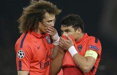 David Luiz e Thiago Silva Chelsea x PSG (Foto: AP)