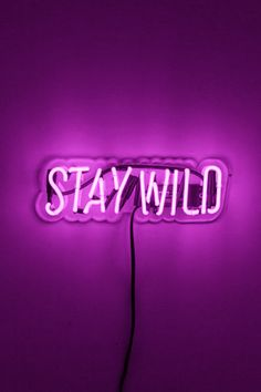 stay wild || purple || neon