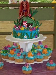 Little Mermaid Birthday Cake. WHY WASN'T THIS MY BIRTHDAY CAKE WHEN I WAS LITTLE? I was so obsessed with The Little Mermaid! I wanted to be Ariel!