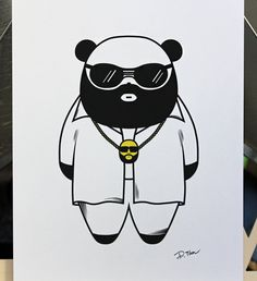 5 x 7 Rick Ross Panda Art Print by deedeetantan on Etsy, $8.00