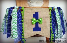 LITTLE MAN Bow Tie Birthday High Chair by RawEdgeSewingCo on Etsy