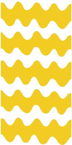 Marimekko Lokki White / Yellow Fabric Summer collides with a classic, mod pattern in the Marimekko Lokki Fabric. Designed by Maija Isola in the this timeless wavy pattern receives an updated color scheme from daughter Kristina Isola. Marimekko Wallpaper, Marimekko Fabric, Pattern Wallpaper, Textile Patterns, Textile Design, Print Patterns, Floral Patterns, Kids Patterns, Nordic Design