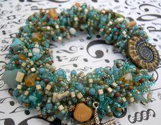 Seashore bracelet by TLS Clay Design, via Flickr
