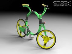 Coroflot  / folding bicycle concept by Richard Masoner / Cyclelicious, via Flickr
