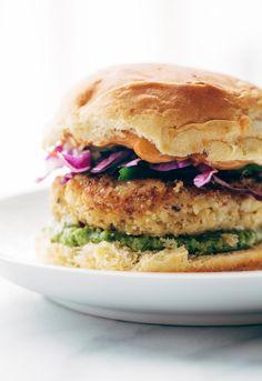 Bookmark this veggie burger recipe to make a Spicy Cauliflower Burger.