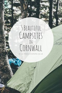 5 Beautiful Campsites in Cornwall If you're looking for a peaceful weekend away, or a fun trip with the family, check out my top 5 campsites in Cornwall! Camping France, Camping In Maine, California Beach Camping, Camping 3, Camping Near Me, Camping Holiday, Camping Places, Camping Lights, Camping World