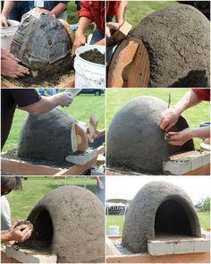 build wood fired earth oven, concrete masonry, diy, outdoor living, woodworking projects