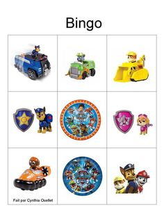 Bingo, Paw Patrol, Playing Cards, Facebook, Games, Sweet, Table, Animaux, Candy