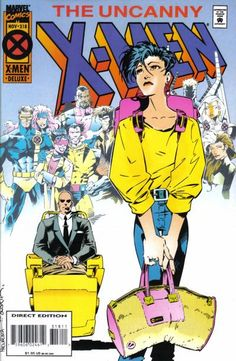 Cover for The Uncanny X-Men (Marvel, 1981 series) #318 [Direct Deluxe Edition]