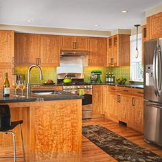 Best Of Tiger Maple Kitchen Cabinets