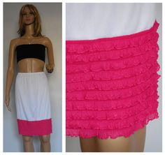 lace dress extender Hot Pink Slip extender by www.bootcuffsandsocks.com