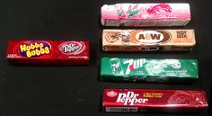 This year Wrigley introduced two new soda pop-flavored Hubba Bubba flavors with one of them, Hubba Bubba Dr Pepper, serving as a bubblegum-soda-flavor-comeback of sorts. Pop Bubble, Bubble Gum, 1980s Childhood, Childhood Memories, 1980s Candy, Old Candy, A&w Root Beer, Big Bubbles, Ice Cream Candy