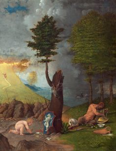 1. Lorenzo Lotto, Allegory of Virtue and Vice, 1505, oil on panel, 56.5 x 42.2 cm, National Gallery of Art, Washington DC.