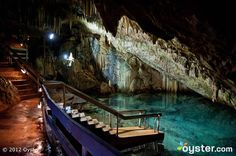 The cavernous spa at the Grotto Bay Beach Resort in Bermuda