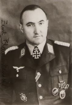 Oberst i.G Ernst BLAUENSTEINER 16 May 1911 – 18 August 1995) Knight's Cross of the Iron Cross on 29 October 1944 as Oberstleutnant im Generalstab and chief of the Generalstab II. Fallschirmkorps