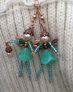 Beaded doll earrings for kids. Craft ideas from LC.Pandahall.com