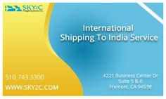 Cheap Shipping To India Service by Sky2c Freight Systems Inc.