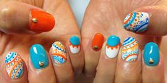 ☆Whip cream☆ - Turquoise blue and the color of the orange are...