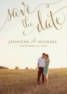 A personalized save-the-date card with your photo on it | http://Brides.com