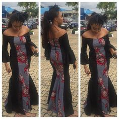 Here are 35 Plain & Pattern Ankara styles you should try out this year. Pictures Of The Latest Plain & Pattern Ankara Gown Styles Beautiful Ankara Gowns, Beautiful Ankara Styles, Trendy Ankara Styles, Ankara Gown Styles, African Dresses For Women, African Attire, African Wear, African Fashion, Ankara Fashion