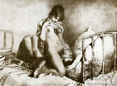 MZ+021+:+Erotic+drawing+by+Mihaly+Zichy.    1827+-+1906