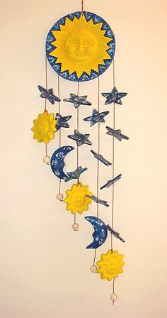 Ceramic Wind Chimes Sun Moon Amp Stars Art Gala Project