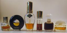 Vintage lot 6 Miniature Mini Perfume Parfum Bottles Youth Dew Picasso Missoni