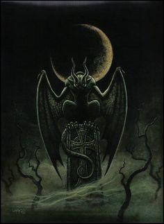 Dark Art by Joseph Vargo Gargoyle tattoo Dark Artwork, Fantasy Artwork, Baphomet, Werewolf Hunter, Gothic Gargoyles, Gargoyle Tattoo, Chibi, Arte Horror, Gothic Horror