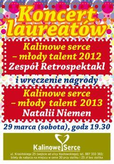 #Koncert #laureatów #Retrospektakl i #Natalia #Niemen #Nagroda #Kalinowe #Serce - #Młody #Talent 2013 r. dla #Natalia #Niemen