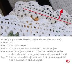 another crocheted edge tutorial