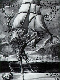 Victory (Woman Metamorphosing Into A Boat With Angels) - Dali Salvador Salvador Dali Gemälde, Salvador Dali Paintings, Spanish Artists, Inspirational Artwork, Art Database, Art For Art Sake, Painting Techniques, Street Art, Fine Art