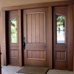 Are you looking for the best wooden doors for your home that suits perfectly? Then come and see our new content Wooden Main Door Design Ideas. Main Entrance Door Design, Wooden Main Door Design, Double Door Design, Front Door Entrance, Front Door Design, Window Design, Entry Doors, Front Entrances, Front Entry