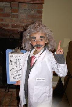 little Albert Einstein! clever #STEM Halloween costume