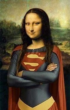 It's a bird......it's a plane.....it's SuperMona!   Oh yeah, and she's feelin' SUPER alright!
