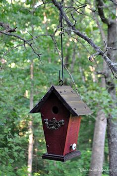 "Rustic Hanging Birdhouse ~ ""The Villa"" by RebeccasBirdGardens on Etsy https://www.etsy.com/listing/236303742/rustic-hanging-birdhouse-the-villa"
