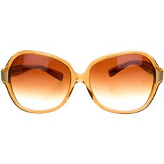 Pre-owned Oliver Peoples Translucent Oversize Sunglasses ($75) ❤ liked on Polyvore featuring accessories, eyewear, sunglasses, brown, brown glasses, gradient lens sunglasses, brown oversized sunglasses, translucent sunglasses and oliver peoples eyewear