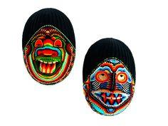 Máscara Visión Yaje Kamtsá con Chaquiras - Catálogo de Productos - Artesanías de Colombia