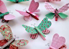 borboletas-de-papel-com-prendedor2.jpg (600×425)