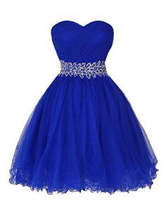 Dresstells Women's Ruffles Short Sweetheart Tulle Dress Beads in waist Evening Gown Maxi Dress Royal Blue Size 10 Dresstells http://www.amazon.co.uk/dp/B00RGH2A8K/ref=cm_sw_r_pi_dp_Xcnjvb1P7Z4GG