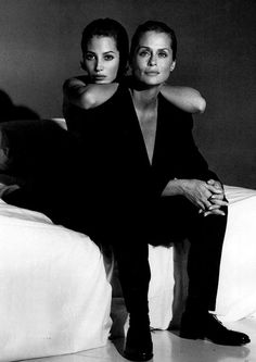 Christy Turlington & Lauren Hutton. Two of my favourite.