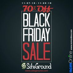 SiteGround is offering new customers huge discounts during their 3-day Black Friday Sale. That means for limited time only, web hosting plans will be starting at only $2.95 per month! Receive up to 70% off new hosting plans on Friday, 11/27/15; Saturday 11/28; and Sunday, 11/29/15 only. Coupon Codes, Black Friday, Meant To Be, Sunday, Coding, How To Plan, Programming